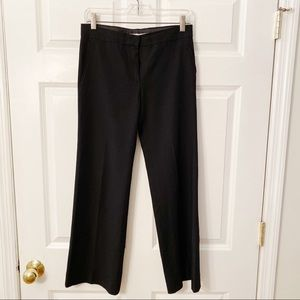 Sportmax Black Flat Front Wool Blend Pants